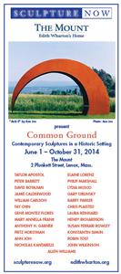 SculptureNow Exhibition Card 2014
