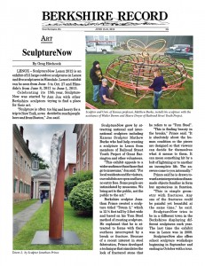 Review of 2012 sculpture show from the Berkshire Record, Great Barrington, MA