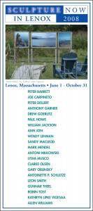 SculptureNow Exhibition Card 2008