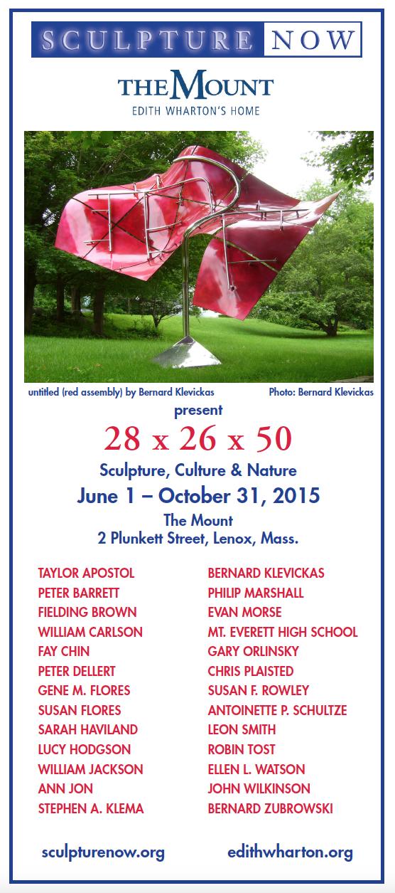 SculptureNow Exhibition Card 2015